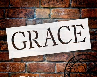 Grace - Word Stencil - Select Size - STCL1002 - by StudioR12