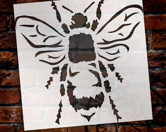 Bee Stencil by StudioR12   Reusable Mylar   Use for Painting Wood, Fabric, Furniture   DIY Vintage French Country Home Decor   CHOOSE SIZE