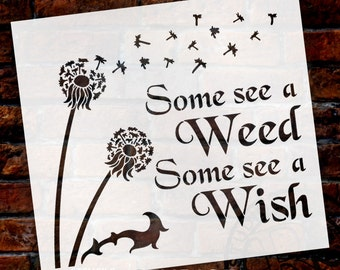 Some See A Wish - Art Stencil - Select Size - STCL1442 - by StudioR12
