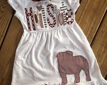 Appliqué game day dress