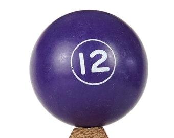 No. 12 Miniature Billiard Ball Purple Twelve XII Small Ball