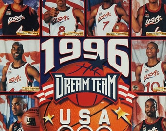 1996 Dream Team USA Basketball NBA Poster