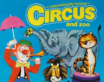 Vintage Sir Robert Fossett's Internationally Famous Circus and Zoo Poster 20 x 30