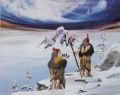 1991 Robert Redbird quot The Caretakers quot Native American Print Limited Edition 548 1000 Signed 32 x 23 Vintage Signed