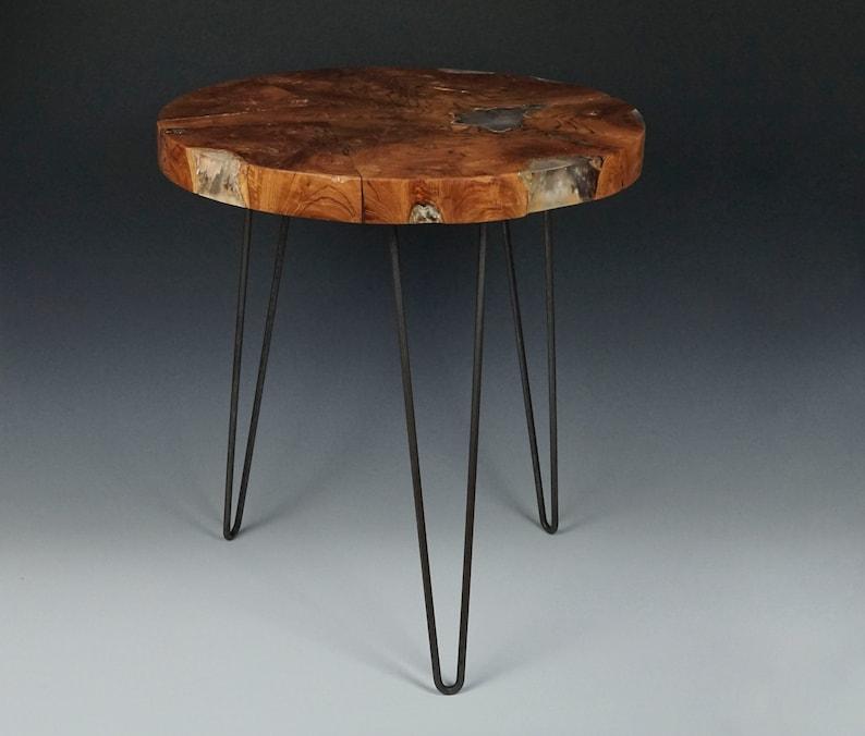 Bekannt Jahrgang Maser Platte Tisch Holz Holz Harz Acryl Inlay | Etsy YC12
