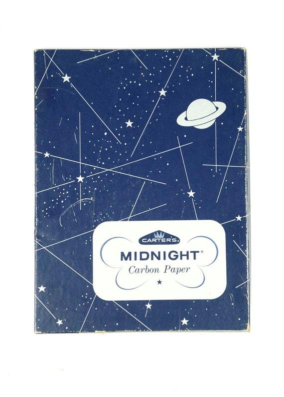 1957 Carters Mitternacht Kohlepapier Jahrgang Platz 115 x 85 | Etsy