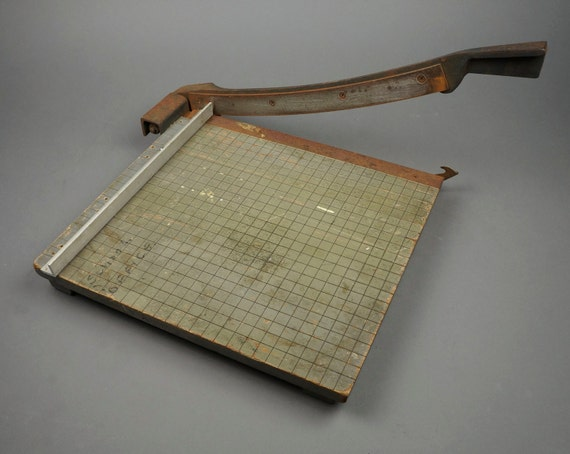 Periods & Styles Arts & Crafts Movement Fine Beautiful Antique Vintage Wooden Guillotine Paper Cutter Arts And Crafts