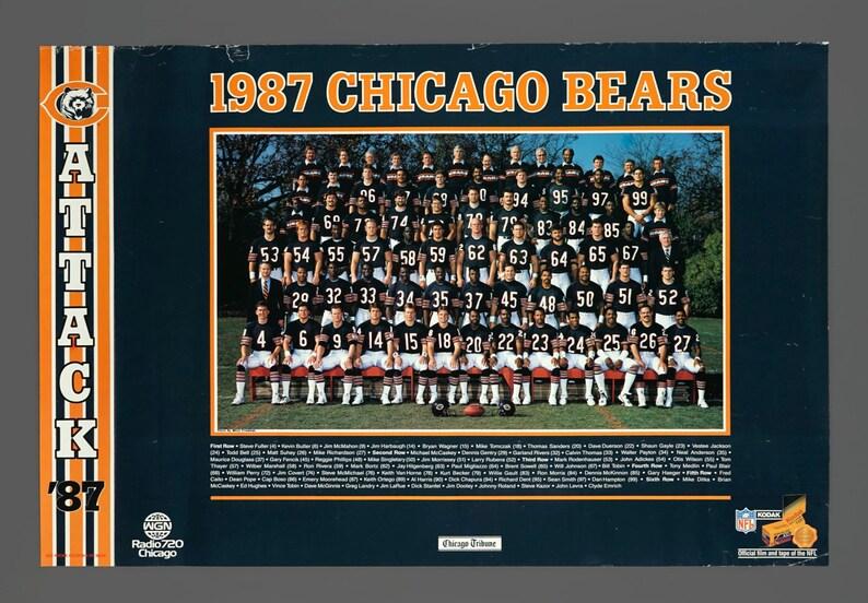 7fae304f 1987 Chicago Bears Chicago Tribune Promo Poster 20 x 30 Vintage Poster
