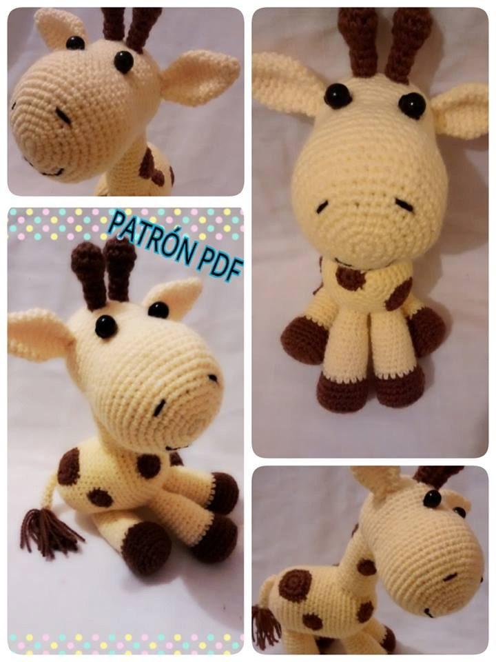 RatiTejedores - patron de jirafa bebe   Amigurumi de animais de ...   960x720