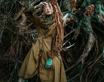 Hooded Vest Witch Vest Witch Oufit Fall Fashion Fall vest Fairy Clothes Pixie Clothes Pixie Hood burning man Gothic Renaissance Slit Weave