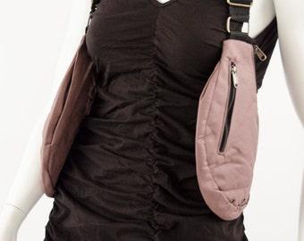 Denim Canvas Holster-2 pocket (Mad Max,Cyberpunk,Festival belt,Travel bag,Pouch,Post Apoalyptic,Shoulder bag,Industrial)