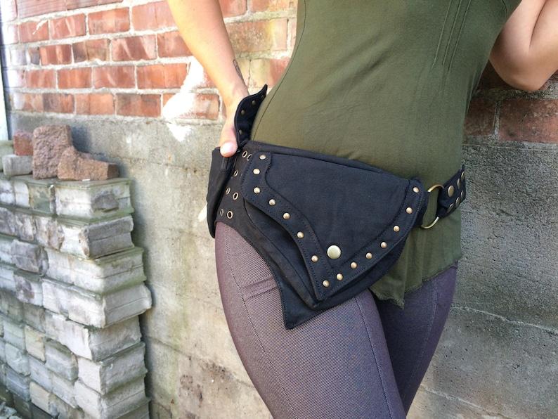 6ff34d320 Denim 2 Pocket Brass Mishu Pocket Belt Hip Bag Utility
