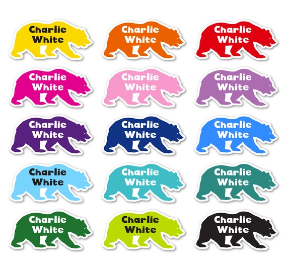 Colourful Name Labels-FEET Shaped fun labels for labelling Shoes and other items