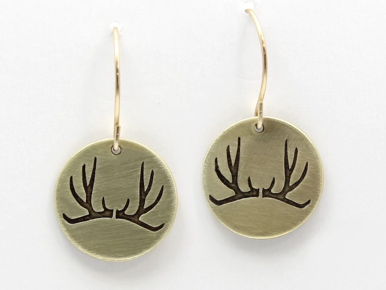 Outdoor Jewelry Mountain Jewelry Antler Earrings Nature Lover Gift