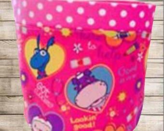 Handmade Dr McStuffins Storage Bucket