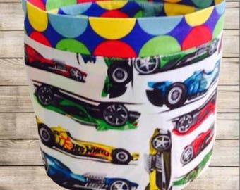 Handmade Matchbox cars Storage Bucket