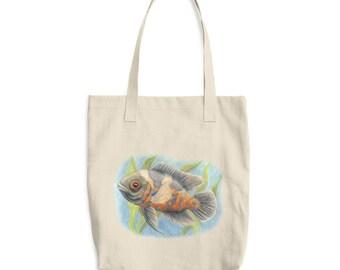 Tiger Oscar Bag - Cotton Tote Bag - Grocery Bag