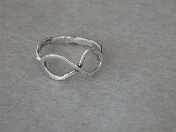 Scientists Ring Hammered Texture Silver Band Pi Math Ring Size 8 Ring Minimalist Silver Band Sterling Silver Gift Ring Symbol Ring