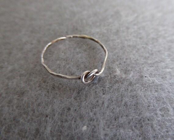 Silber Knoten Ring Sterling Silber Draht-Knoten-Ring Ring | Etsy