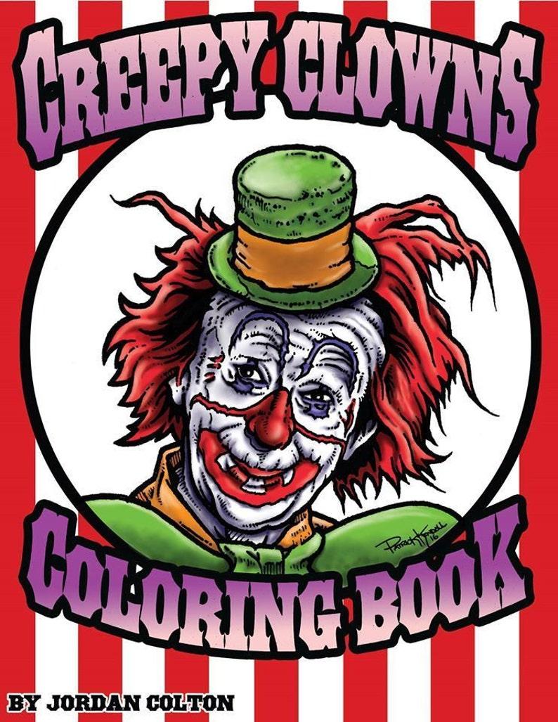 Coloriage Clown Adulte.Clown Terrifiant Adulte Livre De Coloriage