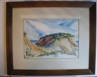 James Kirk Merrick Seacape Watercolor Signed