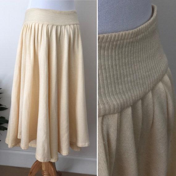 Norma Kamali Vintage Sweatshirt circle Skirt 1980'