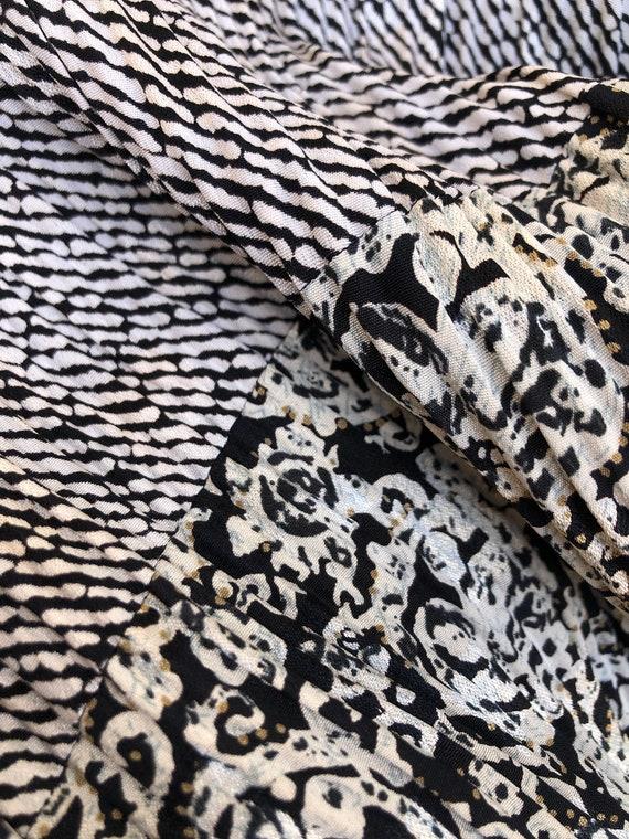 Patty O'Neil long sleeve micro pleat midi dress w… - image 10