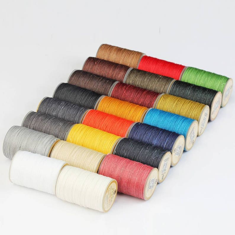 Waxed Polyester Hand Sewing Thread by WUTA