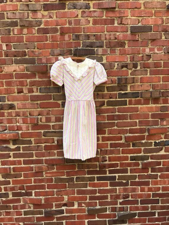 Petite small • 1930s RAINBOW STRIPE cotton juniors