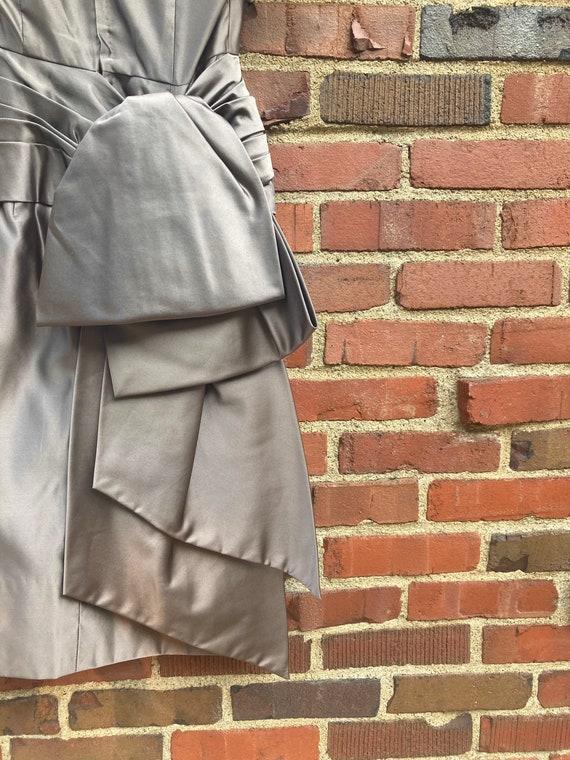 Xs • 1950s PURE SILK mocha satin charmeuse dress … - image 6