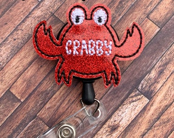 I/'m Feeling A Bit Crabby Keyring Key Chain Funny Anmal Crab