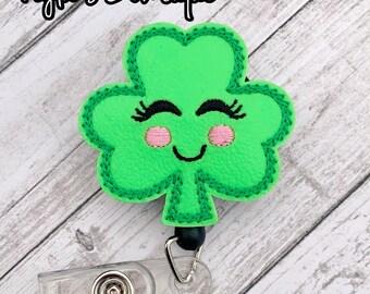 Holiday Badge Leprechaun Bow Nurses Badge Reel Badge Pull Bow Badge Reel Saint Patrick/'s Day Bow Badge Reel