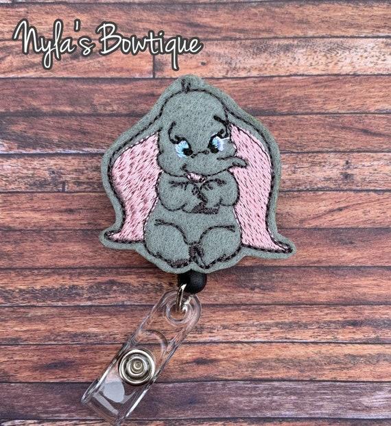 Dumbo Badge Reel, Baby Elephant Badge Reel, Elephant Badge Reel,  Retractable ID Badge Holder, Nurse Badge Reel, Disney Badge Reel