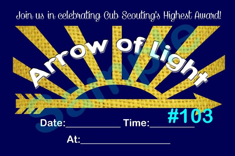 Arrow Of Light 103 Fill In Diy Printable Invitation Etsy