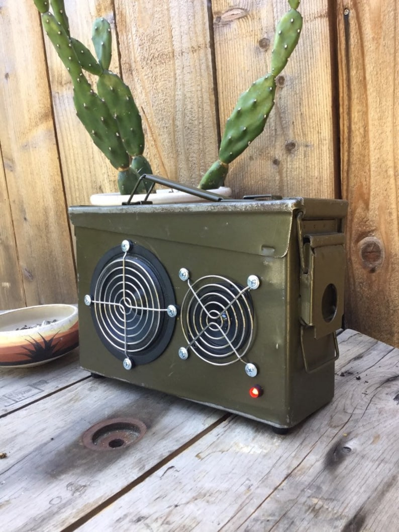 Able the portable rechargeable bluetooth ammo box speaker