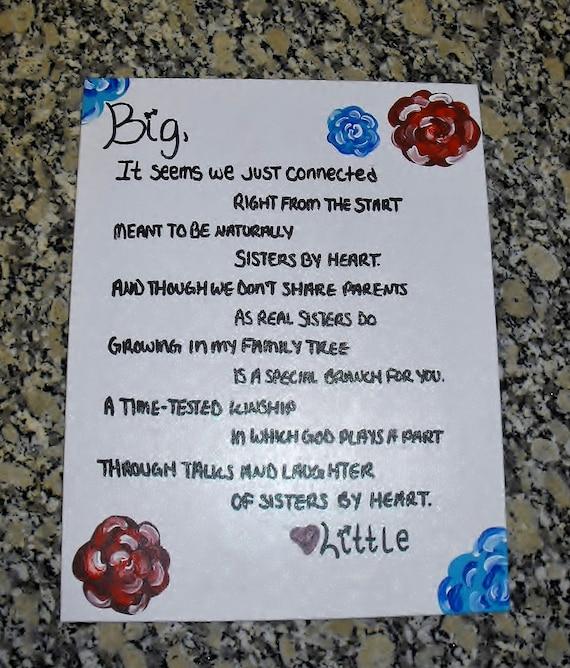 Big little sorority poems