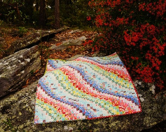 Handmade floral bargello quilt