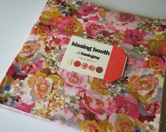 Precut layer cake cotton fabric--Kissing booth--by Moda