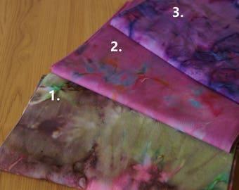 Hand Dyed Bali Batik Cotton Quilt Fabric--sold by fatquarter/half yard/yard-green theme