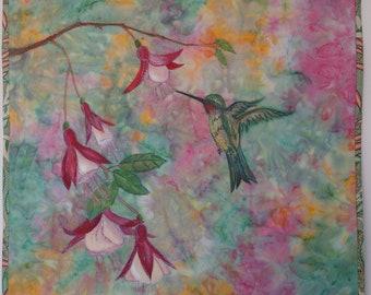 Handmade original fibre art/home decor /wall art/ applique/ patchwork quilting/ thread painting/ handpainted