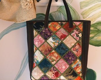 Sewing Pattern for Intermediate level--Portable patchwork art series of tote fabric bag-- PDF Instant download