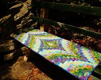 Handmade vintage bargello quilt table runner sewing kit
