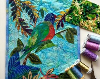 Sold/Customized available/Handmade original fibre art/wall decor /wall art/ applique/ patchwork quilting
