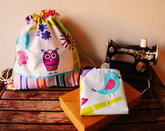 handmade soft backpacks, kid luch bags, school bags, eco friendly bags, gym bags, cotton bags