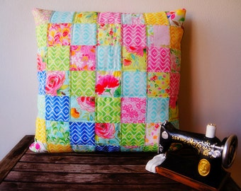 Customized handmade cusion cover, machine quilted, patchwork pillow, home deco, any Size