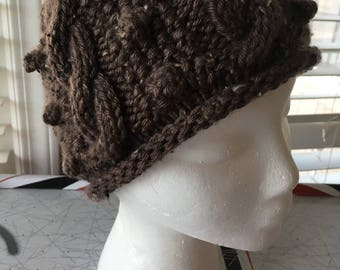 The Chloe hat in taupe tweed