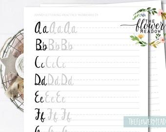 Funny Beginner's Guide, Modern Calligraphy, Worksheet Tutorial , Beginner Brush, Workbook Lettering, Starter Kit, hand lettering, how to  13
