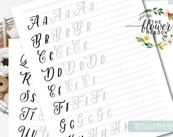 Worksheets Lettering Practice Wedding Brush Alphabet Calligraphy Tutorial Learn Hand Guide 17
