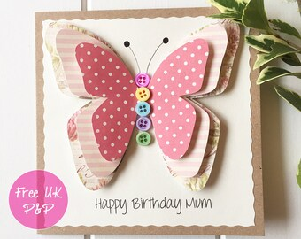 Birthday cards etsy uk more colours mum birthday card m4hsunfo