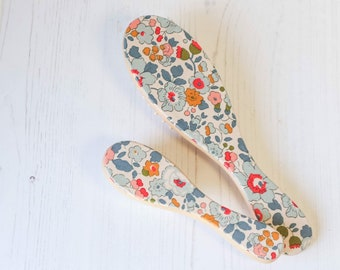 Liberty of London Hair Brush. Hair Brush, Hand Finished with Liberty Tana Lawn Fabric.